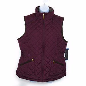 Weatherproof Quilted Vest Faux Fur Lined NWT NEW